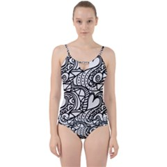 Seamless Tile Background Abstract Cut Out Top Tankini Set