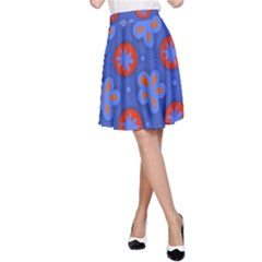 Seamless Tile Repeat Pattern A Line Skirt