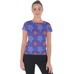 Seamless Tile Repeat Pattern Short Sleeve Sports Top