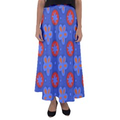 Seamless Tile Repeat Pattern Flared Maxi Skirt
