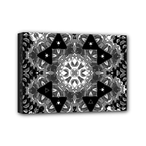 Mandala Calming Coloring Page Mini Canvas 7  X 5