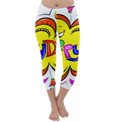 Happy Happiness Child Smile Joy Capri Winter Leggings