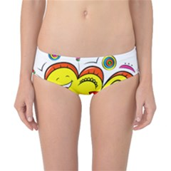 Happy Happiness Child Smile Joy Classic Bikini Bottoms