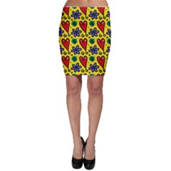 Seamless Tile Repeat Pattern Bodycon Skirt