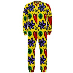 Seamless Tile Repeat Pattern Onepiece Jumpsuit (men)