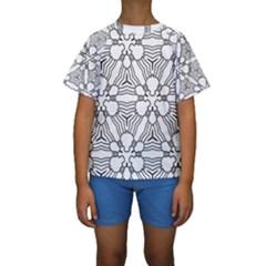 Pattern Design Pretty Cool Art Kids  Short Sleeve Swimwear