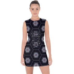 Mandala Calming Coloring Page Lace Up Front Bodycon Dress