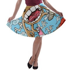 Illustration Characters Comics Draw A Line Skater Skirt