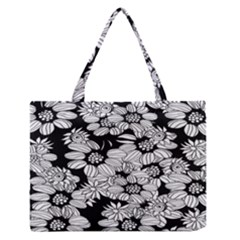 Mandala Calming Coloring Page Zipper Medium Tote Bag
