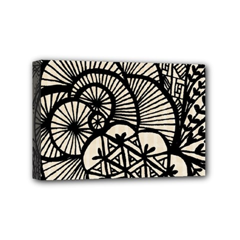 Background Abstract Beige Black Mini Canvas 6  X 4