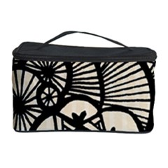 Background Abstract Beige Black Cosmetic Storage Case