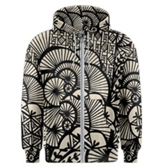 Background Abstract Beige Black Men s Zipper Hoodie