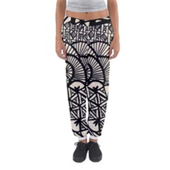 Background Abstract Beige Black Women s Jogger Sweatpants