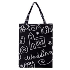 Wedding Chalkboard Icons Set Classic Tote Bag