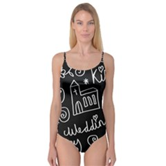 Wedding Chalkboard Icons Set Camisole Leotard