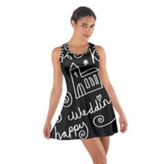 Wedding Chalkboard Icons Set Cotton Racerback Dress