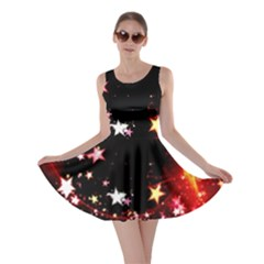 Circle Lines Wave Star Abstract Skater Dress