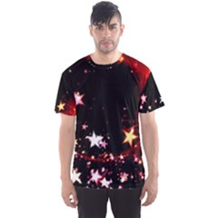 Circle Lines Wave Star Abstract Men s Sports Mesh Tee
