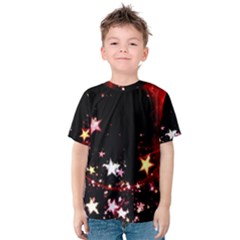 Circle Lines Wave Star Abstract Kids  Cotton Tee