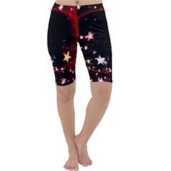 Circle Lines Wave Star Abstract Cropped Leggings