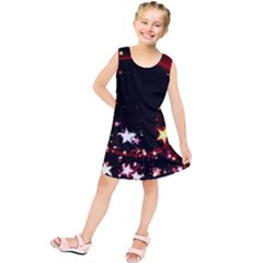 Circle Lines Wave Star Abstract Kids  Tunic Dress