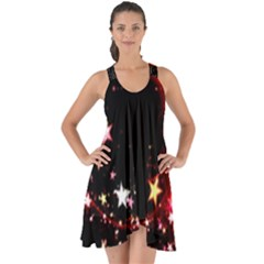 Circle Lines Wave Star Abstract Show Some Back Chiffon Dress