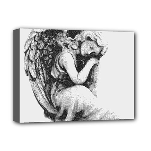 Stippling Drawing Dots Stipple Deluxe Canvas 16  X 12