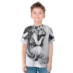 Stippling Drawing Dots Stipple Kids  Cotton Tee