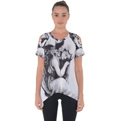 Stippling Drawing Dots Stipple Cut Out Side Drop Tee