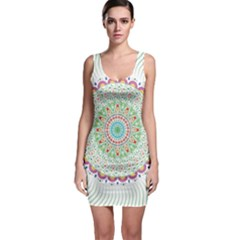 Flower Abstract Floral Bodycon Dress