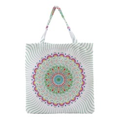 Flower Abstract Floral Grocery Tote Bag