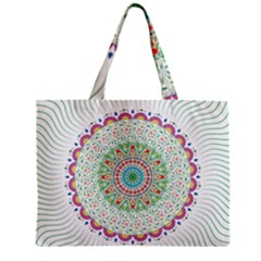 Flower Abstract Floral Zipper Mini Tote Bag