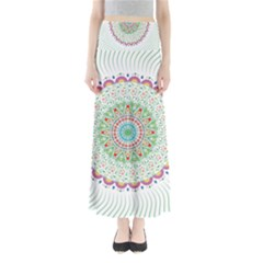 Flower Abstract Floral Full Length Maxi Skirt