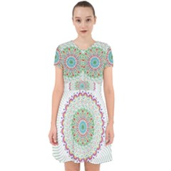 Flower Abstract Floral Adorable In Chiffon Dress