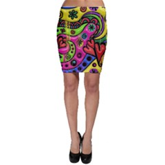 Seamless Texture Pattern Tile Bodycon Skirt