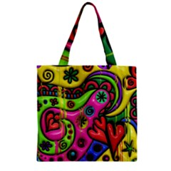 Seamless Texture Pattern Tile Zipper Grocery Tote Bag