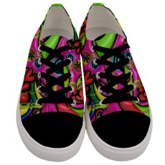 Seamless Texture Pattern Tile Men s Low Top Canvas Sneakers