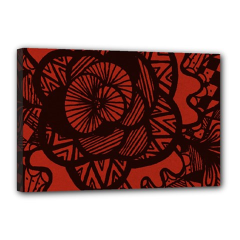 Background Abstract Red Black Canvas 18  X 12