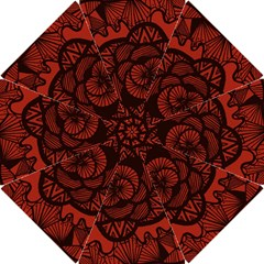 Background Abstract Red Black Hook Handle Umbrellas (small)