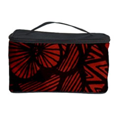 Background Abstract Red Black Cosmetic Storage Case