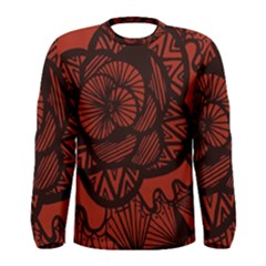 Background Abstract Red Black Men s Long Sleeve Tee