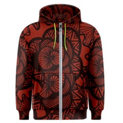 Background Abstract Red Black Men s Zipper Hoodie