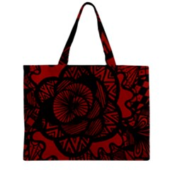 Background Abstract Red Black Zipper Mini Tote Bag