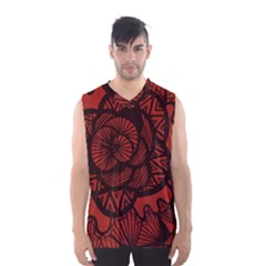 Background Abstract Red Black Men s Basketball Tank Top
