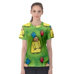 Seamless Repeating Tiling Tileable Women s Sport Mesh Tee