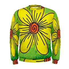 Flower Cartoon Painting Painted Men s Sweatshirt