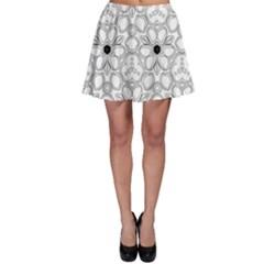 Pattern Zentangle Handdrawn Design Skater Skirt