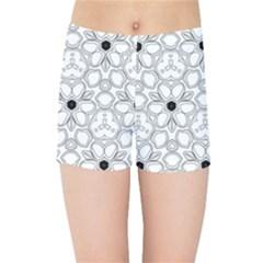 Pattern Zentangle Handdrawn Design Kids Sports Shorts