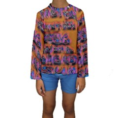 Words Kids  Long Sleeve Swimwear