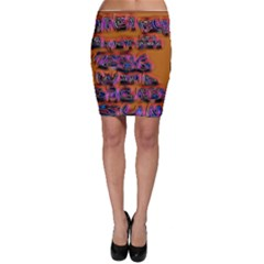 Words Bodycon Skirt
